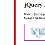 jQuery .append() ve appendTo() nedir ? nasıl kullanılır ?